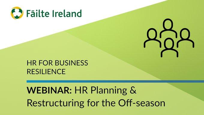 Failte Ireland's Support Hub: 'Impending HR Challenges' Webinars